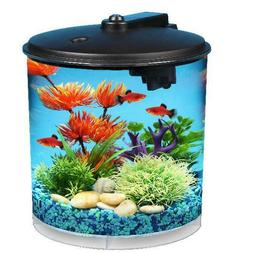AquaView 2-Gallon 360 Fish Tank Bowl Aquarium with Power Fil