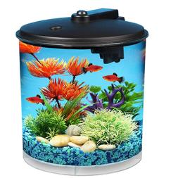 AquaView 2-Gallon 360 Fish Tank Bowl Aquarium with Power Fil