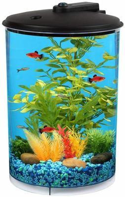Koller Products AquaView 3-Gallon 360 Aquarium with LED Ligh