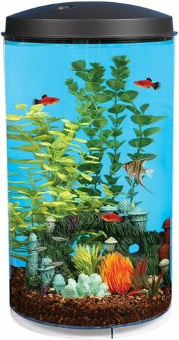 Koller Products AquaView 6 Gallon 360 Fish Tank with Power F