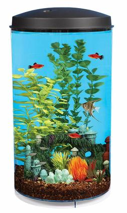 Koller Products AquaView 6-Gallon 360 Fish Tank with Power F