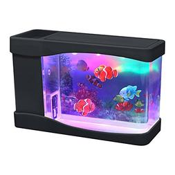 Lightahead Artificial Mini Aquarium Fish Tank Multi Color LE