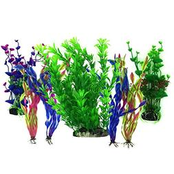 Artificial Aquatic Plants, PietyPet 7 Pcs Large Aquarium Pla