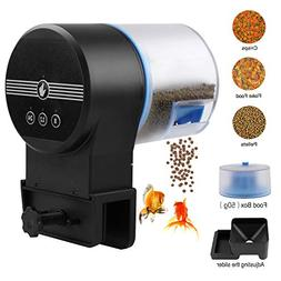 Torlam Auto Fish Feeder, Moisture-Proof Electric Automatic F