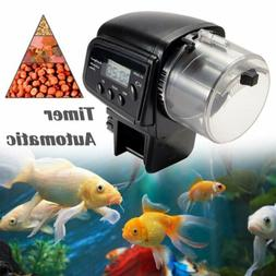 Automatic Fish Feeder LCD Aquarium Food Dispenser Feeding Ti