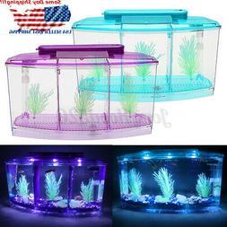 Betta Fish Aquarium Tank with LED Divider Filter Small Penn