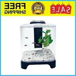 Penn Plax Betta Fish Tank Aquarium Kit With LED Light and In