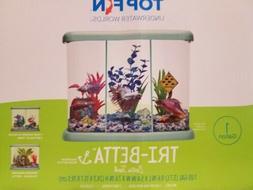 Betta Fish Tank Aquarium Tri-Beta w/ 3 LED Light Starter Kit