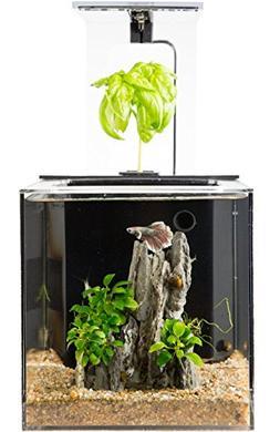 NEW EcoQube C Aquarium - Hydroponic Betta Fish Tank Remote K