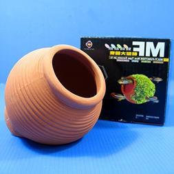 Ceramic jar Aquarium Ornament Breeding Cones Cave Decorat