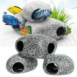 Cichlid Aquarium Stone Cave Fish Tank Pond Ornament Decorati