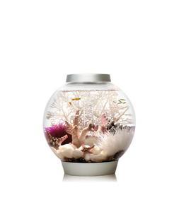 biOrb CLASSIC 15 Aquarium with LED Light – 4 Gallon, Silve