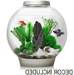 BiOrb Classic 30 Liter Silver Aquarium w/ LED AND Stone Gard