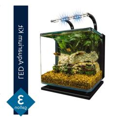 Marineland Contour 3 aquarium Kit 3 Gallons, Rounded Glass C