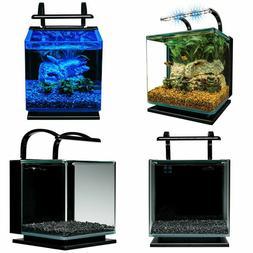 MarineLand Contour Glass Aquarium Kit with Rail Light 3-Gall
