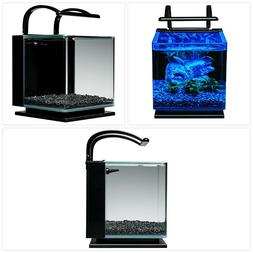 MarineLand Contour Glass Aquarium Kit with Rail Light,new,fr