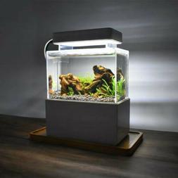 Mini Creative Desktop Aquarium Fish Tank With Water Filtrati