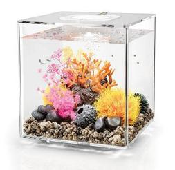 biOrb Cube 30 Aquarium with LED Light - 8 Gallon, Transparen