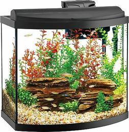 Aqueon Deluxe LED Bow Front Aquarium Kit Black 26 Gallon