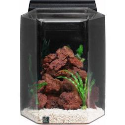 SeaClear Deluxe Hexagon Aquarium Combo, 15 gal.