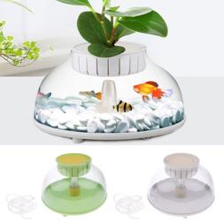 Durable Small Fish Tank Pot Bubble Bowl Plant Fish Aquariums