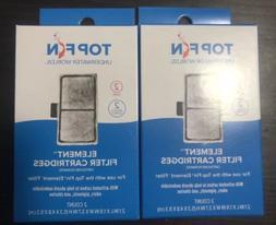 Top Fin Element Filter Cartridge, 2 packs of 2