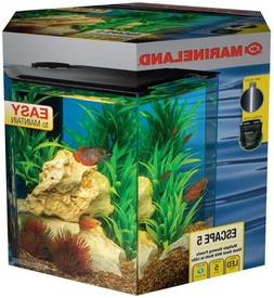 Marineland Escape 5 Aquarium Kit, Built-In Leds & Filter, 5-