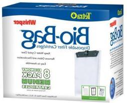 8-Pack Tetra Filter Whisper Bio-Bag Cartridge Medium Aquariu