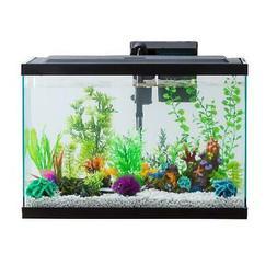 Fish Aquarium Starter Pack 20 Gallon LED Fish Tank Complete