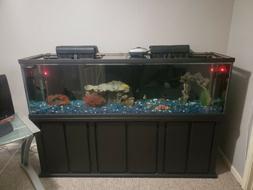 125 gallon fish aquarium w stand