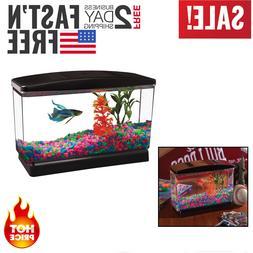 Fish Tank Aquarium 0.5 Gallon Clear Acrylic Terrarium Pet Aq