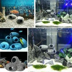 Fish Tank Aquarium Artificial Ceramic Cave Fish Shrimp Snail