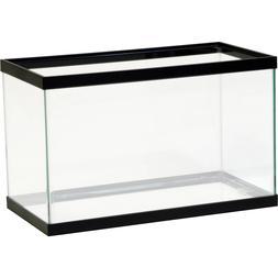 10 Gallon Fish Tank Aquarium Clear Glass Terrarium Pet Aqua