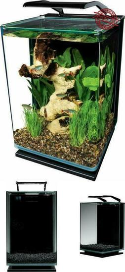Fish Tank Aquarium Kit LED Lighted Portrait 3-Stage Filtrati