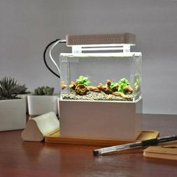 Fish Tank Aquarium Water Filtration Small Tank LED Lamp + Ai