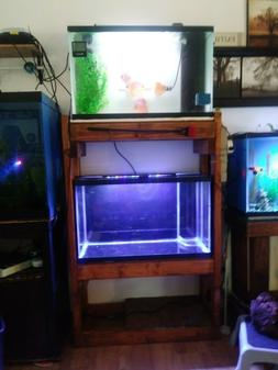 fish tank rack w tanks included