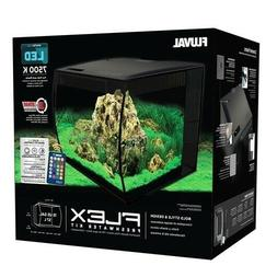 "Fluval FLEX 15-Gallon Aquarium Kit, Black, 16"" W x 15"" D x 1"