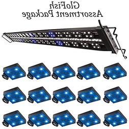 "Marineland Fully Adjustable Advanced LED Light, 48-60"" GloFi"