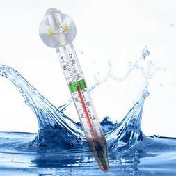 Glass Tube Aquarium Thermometer Fish Tank Temperature Submer
