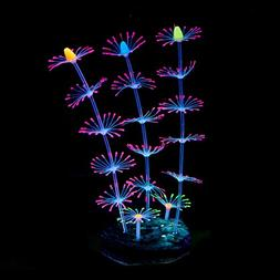 QSSTECH Glowing and Moving Silicone Coral Plant for Fish Tan