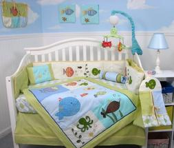 SoHo Gold Fish Aquarium Baby Crib Bedding Set 13 pcs include