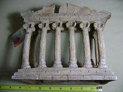 greco roman temple ruins aquarium ornament new