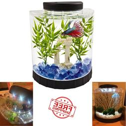 Tetra LED Half Moon Betta Aquarium, Betta Fish Tank