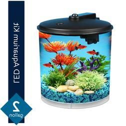 Hawkeye 2-Gallon Fish Aquarium Starter Kit with Power Filter