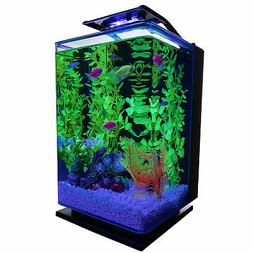 GloFish Hinged Cycle Light and Hidden Filtration Aquarium Ki