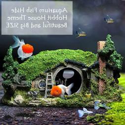 Hobbit Aquarium Fish Tank Decor Hideaway Ornament Resin Deco