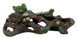 Marina Hollow Log with Moss Cover/Mushroom Betta Aquarium De