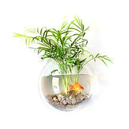 home decoration wall mount fish tanks goldfish