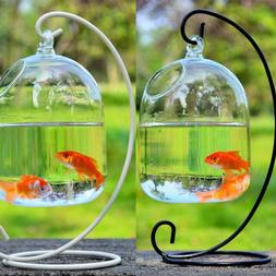 Hanging Ball Terrarium With Bent Stable <font><b>Stand</b></