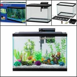 20 Gallon Aquarium Kit Set Fish Tank Led Light Hood Filter C